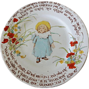Old Shelley Child's Rhyming Plate