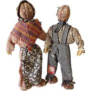 Old Nut Dolls w Clothes