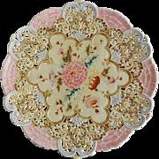 Antique Zsolnay Cake Plate Circa 1890