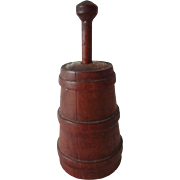 Old Doll House Miniature Butter Churn - Signed