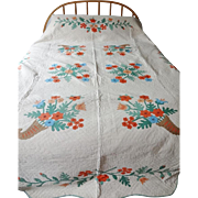 Old Applique Quilt - Cornucopia w Provenance