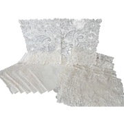 Old Alencon Lace Placemats and Napkins Set