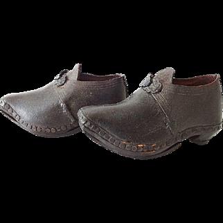 Antique Boys Clog Shoe Boots 19th C
