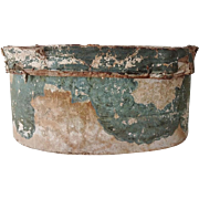 Antique Wall Paper Hat Band Box Circa 1840s