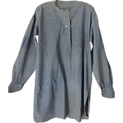 Antique Prairie Farmer's Work Shirt 19th Century
