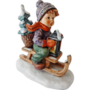 Vintage Goebel Hummel Figurine - Ride to Christmas