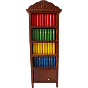 Vintage Shackman Bookcase w Books