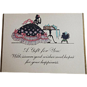 Vintage Art Deco Womens Gift Cards w Envelopes
