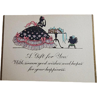 Vintage Art Deco Womens Gift Cards w Envelopes