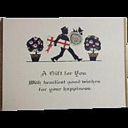 Vintage Art Deco Mens Gift Cards w Envelopes