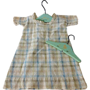 Vintage Doll Dress with Clothes Hangers
