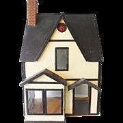 Vintage Wood Tudor Style Doll House 1920-30s