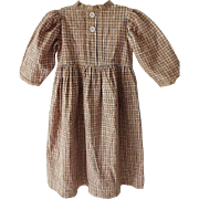Antique Child's Brown Weave Dress Circa 1880s