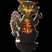 Vintage Halloween Prop Up Cat