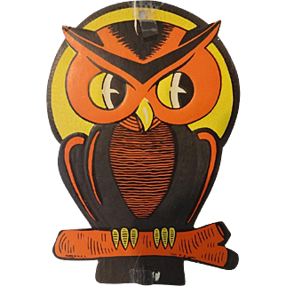 Vintage Beistle Owl Dye Cut