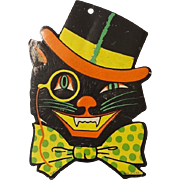 Vintage Beistle Cat with Monocle Dye Cut