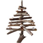 Old Driftwood and Shells Christmas Tree