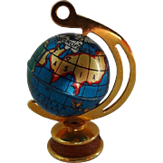 Vintage Doll House Tin World Globe