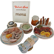 Vintage Doll House Food by Colour Box Breakfast Set