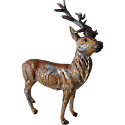 Antique German Christmas Reindeer Figures