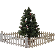 Antique Victorian Christmas Tree Fence