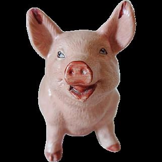 Old Porcelain Pig Figurine