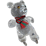 Swarovski Teddy Bear on Silver Skates
