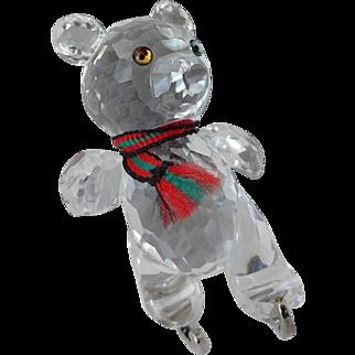 Swarovski Teddy Bear on Silver Skates