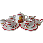 Miniature Doll House Steiff Teddy Bear Tea Set
