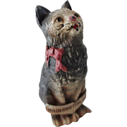 Old Cold Paint Cat Souvenir Figurine