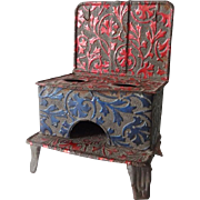 Old Nuremberg Doll House Tin Stove