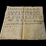Antique ABC Alphabet Sampler 19th C - 1830-50s