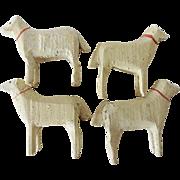 Vintage Miniature Wood Sheep