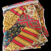 Vintage Patchwork Print Cotton Fabric - 7 Yds