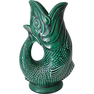 Old Cod Fish Majolica Pitcher