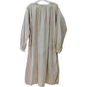 Old French Work Smock - Natural Linen