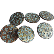 Antique Edwardian Coat Buttons - Paris