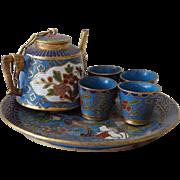 Old Miniature Cloisonne Tea Set