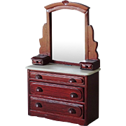 Doll House Bureau Dresser w Mirror