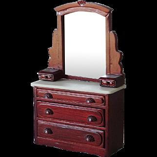 Doll House Bureau Dresser w Mirror