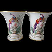 Mottahedeh Porcelain Vases - Chelsea Oriental Bird Pheasant