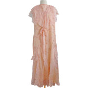 Old Chiffon Debutante Party Wedding Dress Circa 1930
