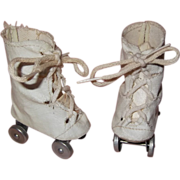 Cute OilCloth Roller Skates for Composition or Hard Plastic Doll