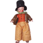 Miniature Bisque Doll House Boy