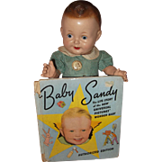 Factory Original Baby Sandy Composition Doll w/ Book