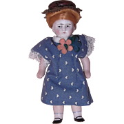 Adorable Little German Bisque Doll