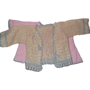 """Dy-Dee Baby and friends Sweater and Pink Baby Bed Jacket for 20"""" Doll"""