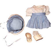 Effanbee Factory Complete Outfit for Patsy Babyette Girl Composition Doll w/ Shoes