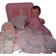 "Hold for N Effanbee Mold 1 Dy-Dee Baby Brunette 15"" Doll w/ Clothing,Box & Accessories"