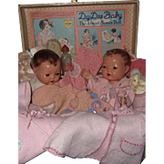 """Effanbee Dy-Dee Baby Trunk Set w/ 2 Mold 1 - Rare 13"""" Dolls and Many Accessories"""